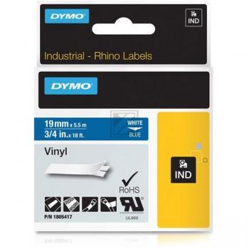 DYMO 1805417 Weiss auf Blau Label Etikette