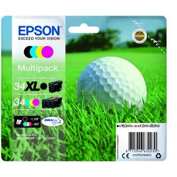 Epson Tintenpatrone Golf Ball gelb cyan magenta schwarz HC (C13T34794010, T3479)
