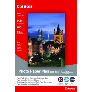 Canon Fotopapier satiniert weiß 50 Blatt 10 x 15 cm 260 g/m² (1686B015, SG-201)