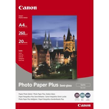 Canon Fotopapier glänzend weiß 20 Blatt DIN A4 260 g/m² (1686B021)
