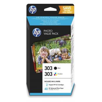 HP Tintendruckkopf Fotopapier 100x150mm cyan/gelb/magenta schwarz (Z4B62EE, 303)
