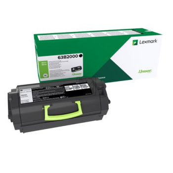 Lexmark Toner-Kartusche Return Program schwarz (63B2000)