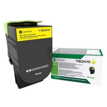 Lexmark Toner-Kit Return gelb HC (71B2HY0)
