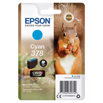 Epson Tintenpatrone cyan (C13T37824010, 378)