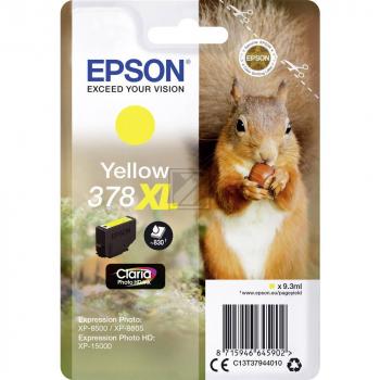 Epson Tintenpatrone gelb (C13T37844010, 378)
