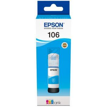 Epson Tintennachfülltank cyan (C13T00R240, 106)