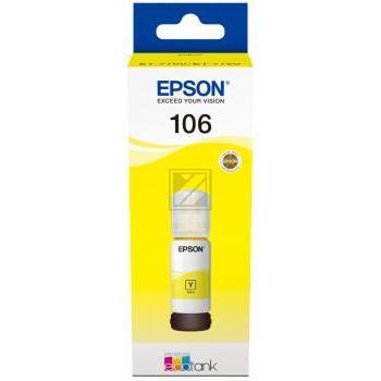 Epson Tintennachfülltank gelb (C13T00R440, 106)