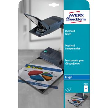 AVERY ZW. Overhead-Folien             A4 2503      Inkjet, 0.11mm         10 Stk.
