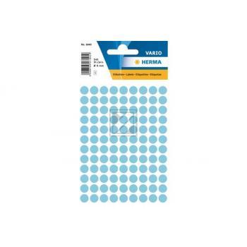 HERMA Markierungspunkte 8mm 1843 blau 540 Stück