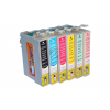 6 Compatible Cleaning Cartridges to Epson T0801 - T0806  (BK, C, M, Y, LC, LM)