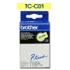 Brother Schriftbandkassette schwarz/signal gelb (TC-C01)