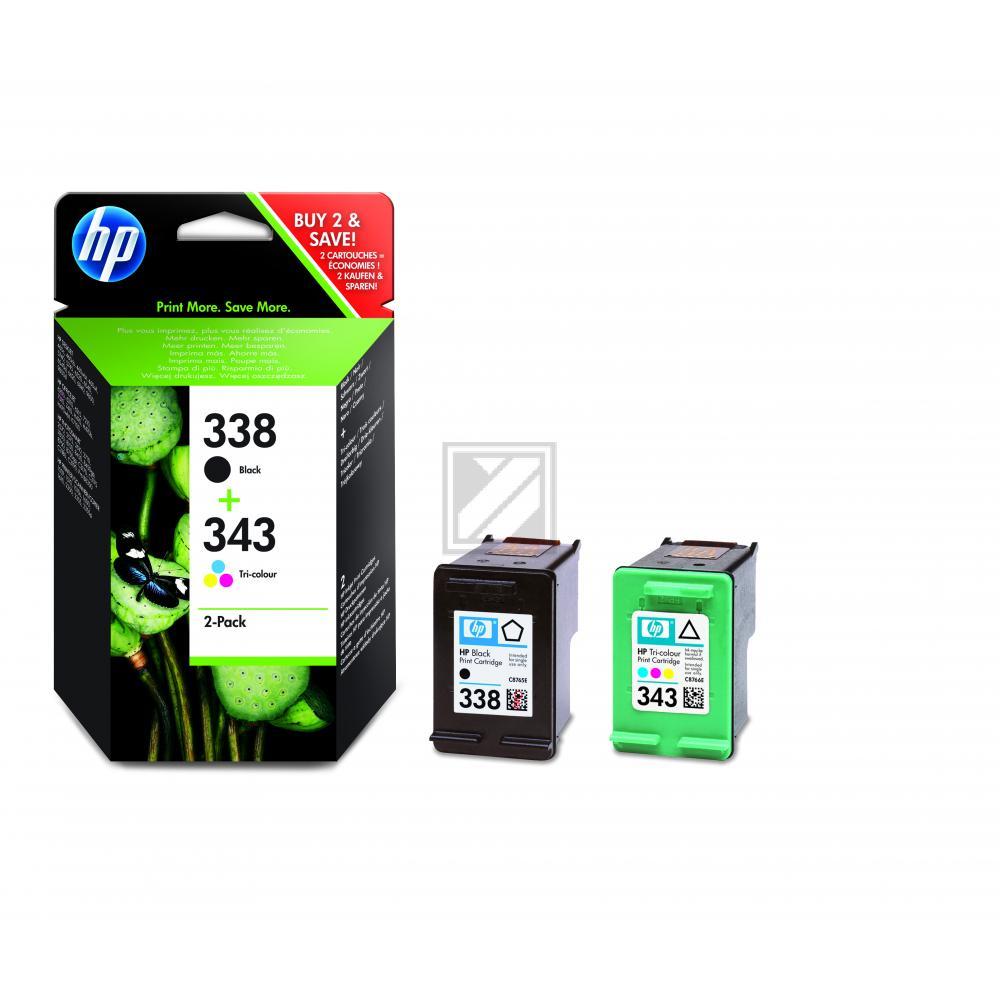 HP Tintenpatrone cyan/gelb/magenta schwarz (SD449EE, 338 343)