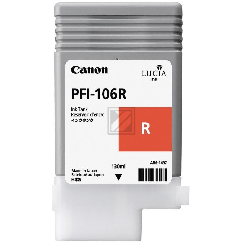 Original Canon 6627B001 / PFI-106R Tinte Red