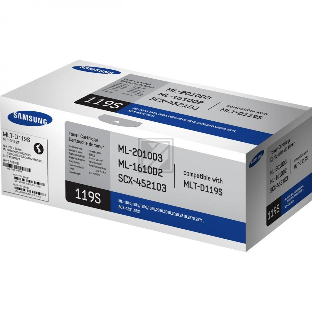 Original Samsung MLT-D119S / 119S Toner Schwarz