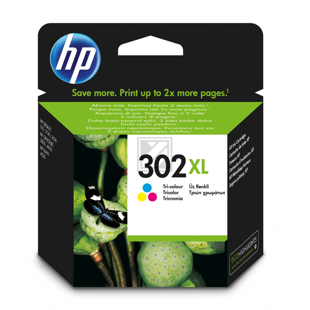 Original HP F6U67AE / 302XL Tinte color