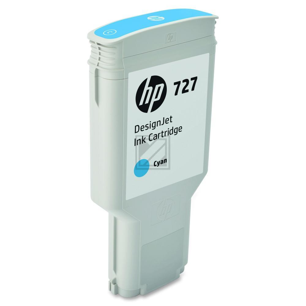 Original HP F9J76A / 727 Tinte Cyan