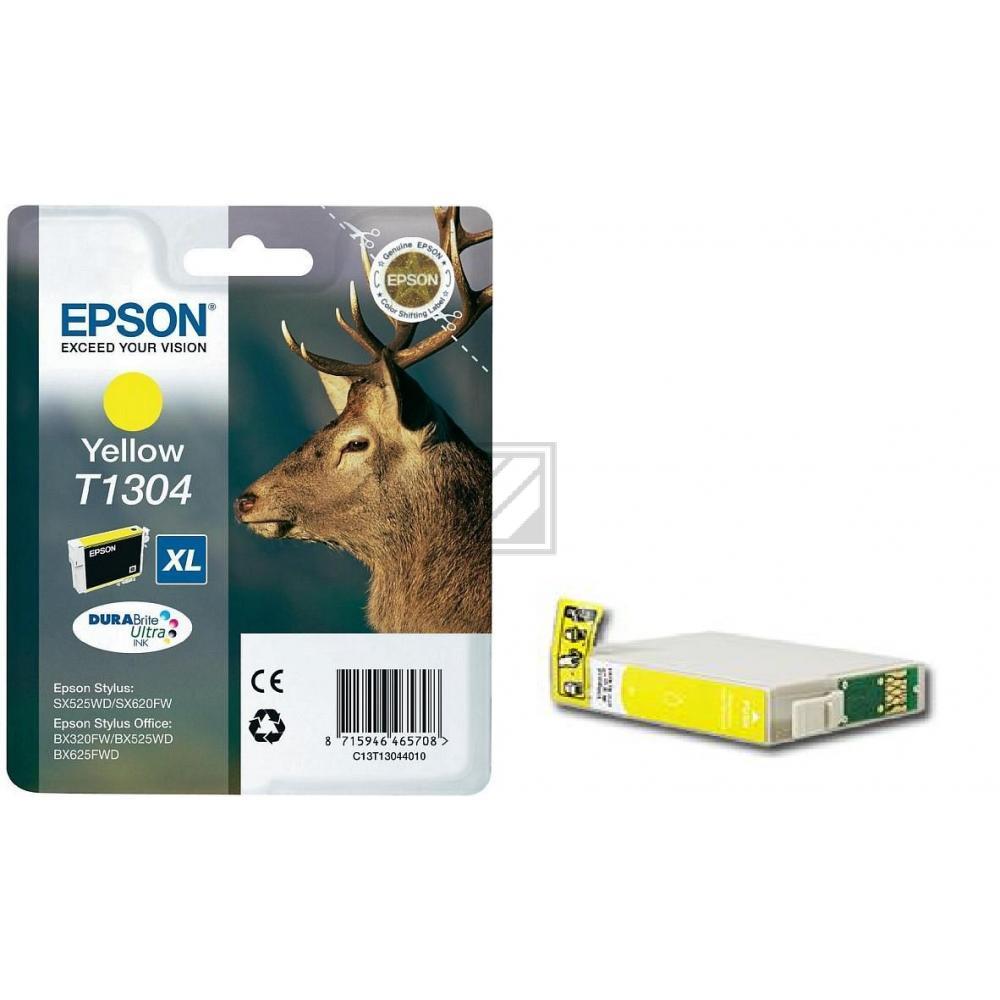 Epson Tintenpatrone gelb (C13T13044012, T1304)