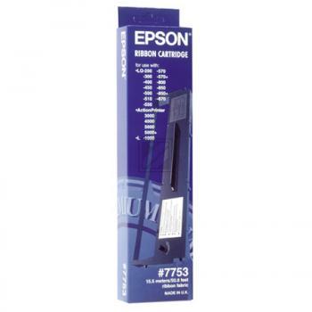 EPSON S015091   7.5 Mio. Zeichen, EPSON Farbband, schwarz