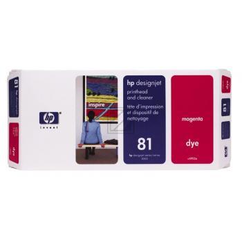 HP 81, HP Druckkopf und Reiniger, magenta