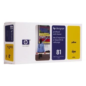 HP 81 | Combopack, HP Druckkopf und Reiniger, gelb