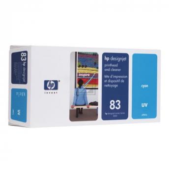HP 83, HP Druckkopf und Reiniger, cyan