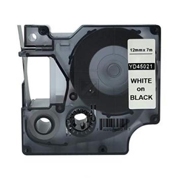 Dymo 45021 / S0720610 D1-Band 12mm weiß auf schwarz