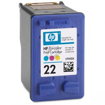 Hewlett Packard Tintendruckkopf cyan/gelb/magenta (C9352AE, 22)