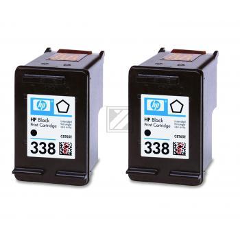 Hewlett Packard Tintenpatrone 2x schwarz (CB331EE, 2x 338)