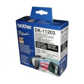 Brother Ordner-Etiketten schmal (weiß) weiß (DK11203)