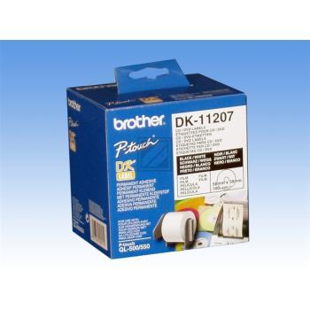 Brother CD-/DVD-Etiketten (weiß) weiß (DK11207)