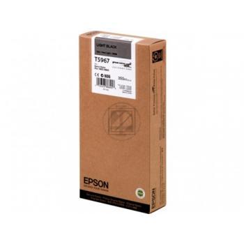 Original Epson C13T596700 / T5967 Tinte Light Schwarz