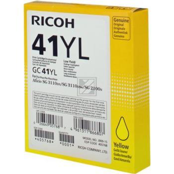 Ricoh Gel-Kartuschen gelb (405768 RICT41Y, GC-41Y)