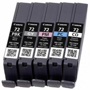 Canon Tintenpatrone Photo-Tinte chrom optimizer grau Photo cyan Photo magenta photo schwarz (6403B007, PGI-72CO PGI-72GY PGI-72PBK PGI-72PC PGI-72PM)