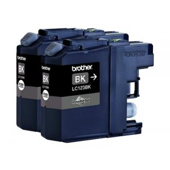 Brother Tintenpatrone 2x schwarz 2-er Pack (LC-123BKBP2DR)