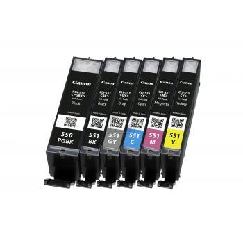 Original Canon 6496B005 / PGI-550 / CLI 551 Tinte Multipack Black & Color