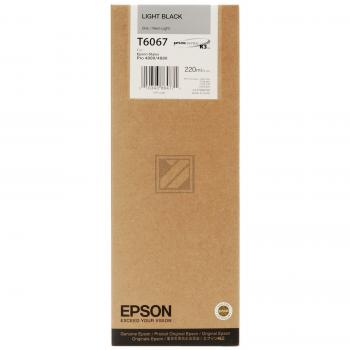 Epson Tintenpatrone schwarz light High-Capacity (C13T565700 C13T606700, T6067)