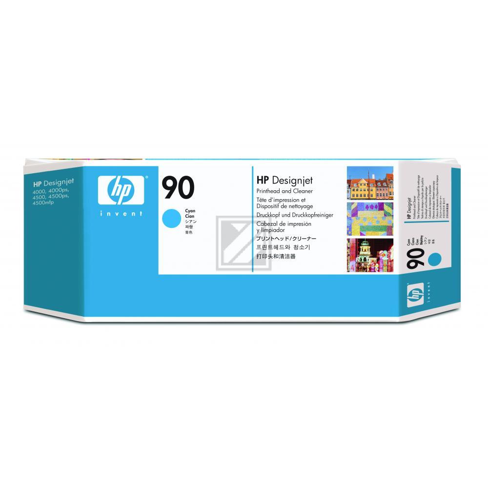 Original HP C5055A / 90 Druckkopf + Reiniger Cyan