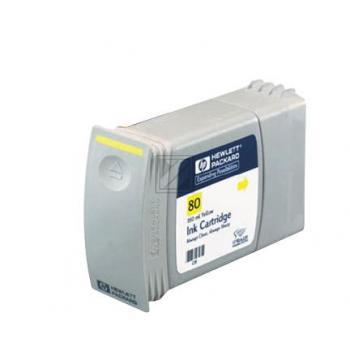 HP Tintenpatrone gelb HC (C4848A, 80) Qualitätsstufe: A MHD: 022022