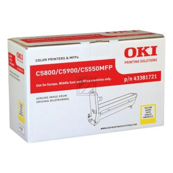 OKI Fotoleitertrommel gelb (43381721)