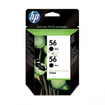 Hewlett Packard Tintenpatrone 2x schwarz High-Capacity (C9502AE, 2x 56)