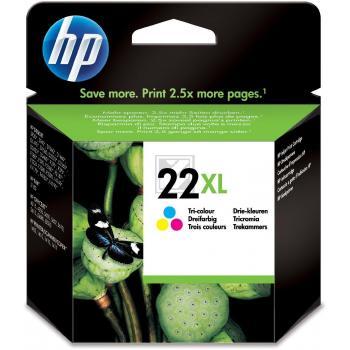 Hewlett Packard Tintenpatrone cyan/gelb/magenta High-Capacity (C9352CE, 22XL)