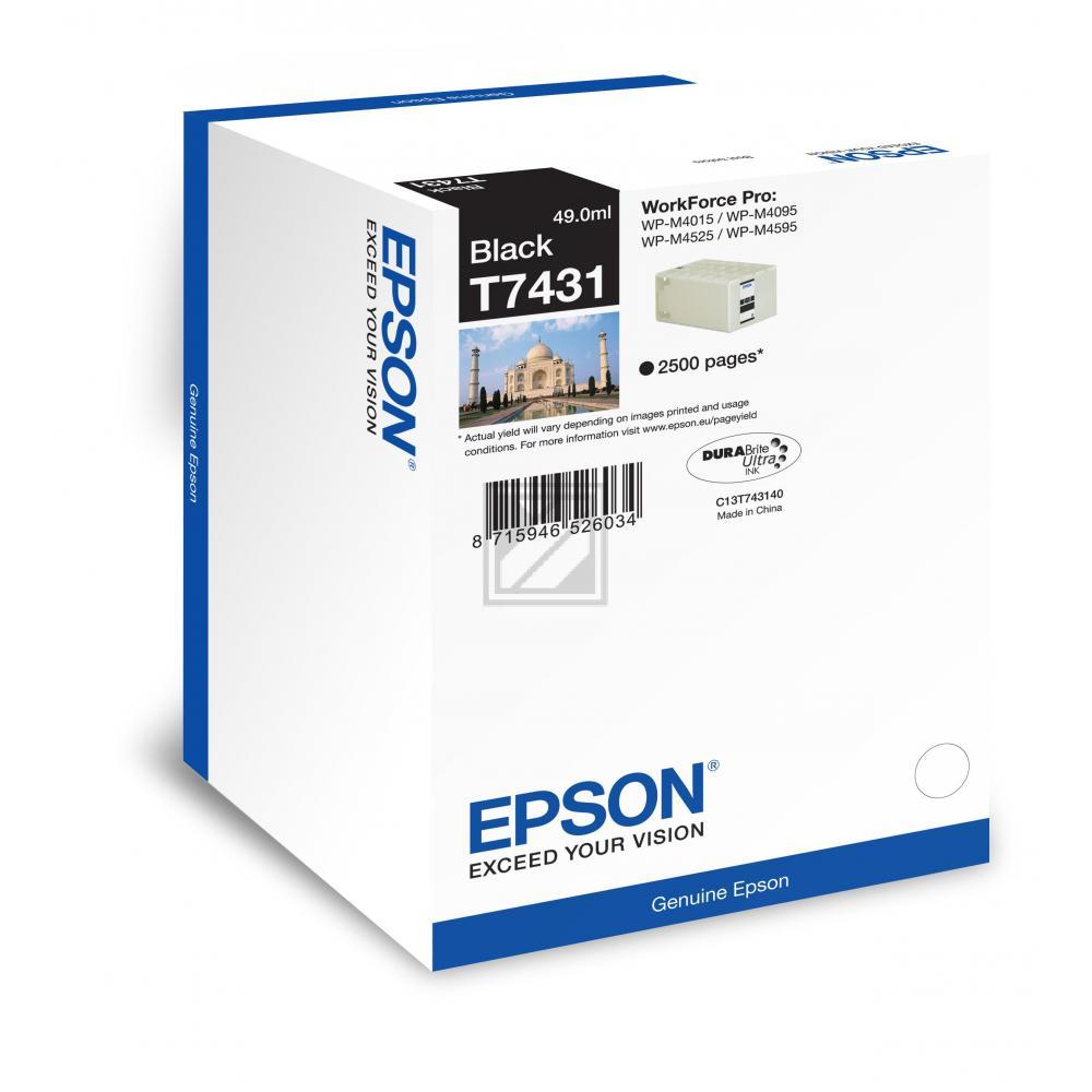 Epson Tintenpatrone schwarz (C13T74314010, T7431)