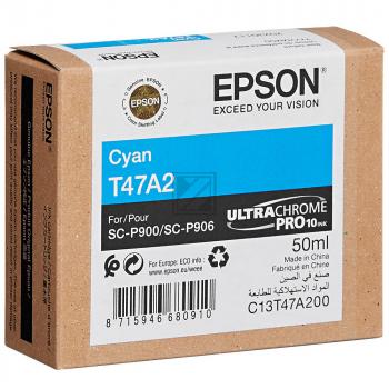 Epson Tintenpatrone cyan (C13T47A200, T47A2)