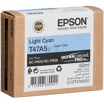 Epson Tintenpatrone cyan light (C13T47A500, T47A5)