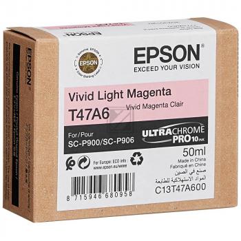 Epson Tintenpatrone magenta light (C13T47A600, T47A6)