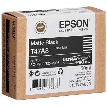 Epson Tintenpatrone schwarz matt (C13T47A800, T47A8)