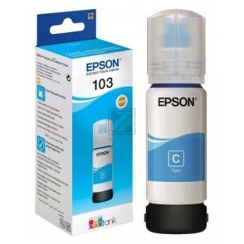 Epson Tintennachfüllfläschchen cyan (C13T00S24A, 103)