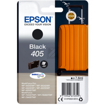 Epson Tintenpatrone schwarz SC (C13T05G14010, 405)