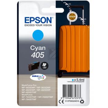 Epson Tintenpatrone cyan SC (C13T05G24010, 405)