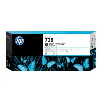 HP Tintenpatrone schwarz matt HC (3WX25A, 728)